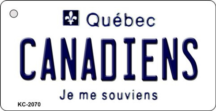 Canadiens Quebec State License Plate Key Chain KC-2070