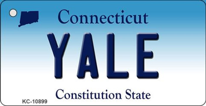 Yale Connecticut State License Plate Key Chain KC-10899