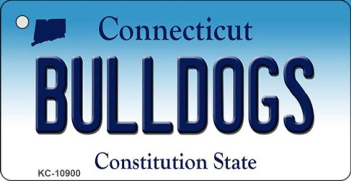 Bulldogs Connecticut State License Plate Key Chain KC-10900