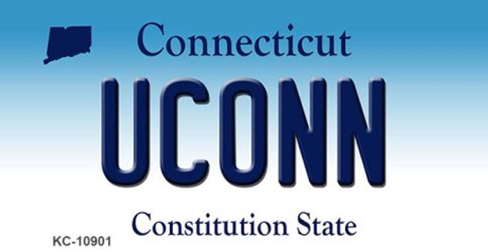 Uconn Connecticut State License Plate Key Chain KC-10901