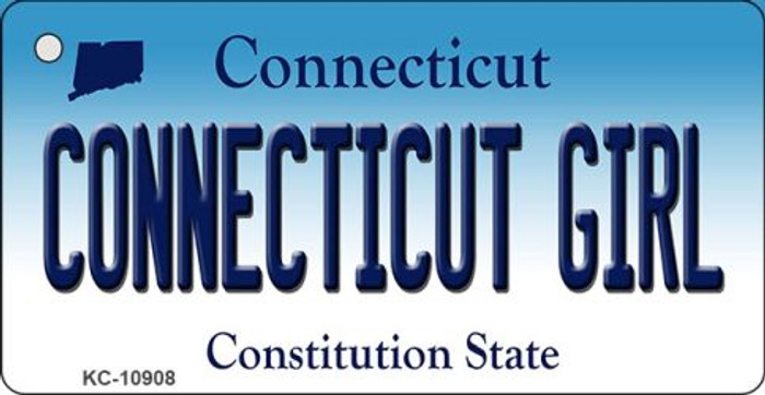 Connecticut Girl State License Plate Key Chain KC-10908