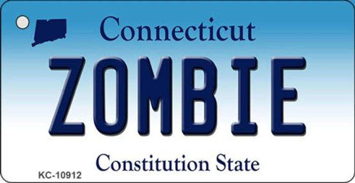 Zombie Connecticut State License Plate Key Chain KC-10912