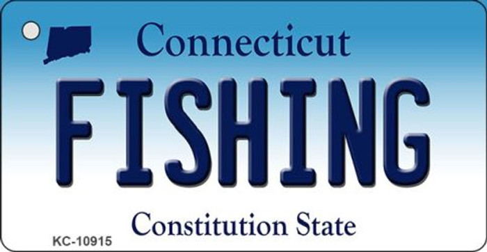 Fishing Connecticut State License Plate Key Chain KC-10915