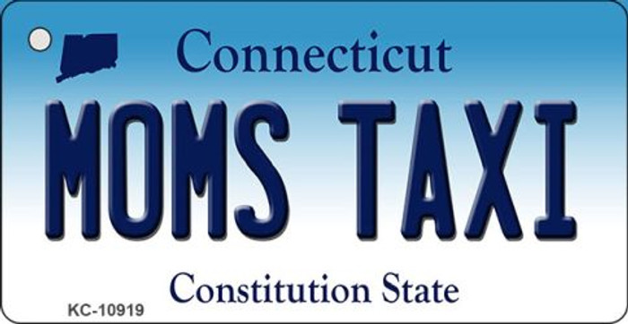 Moms Taxi Connecticut State License Plate Key Chain KC-10919