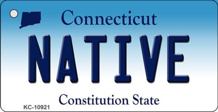 Native Connecticut State License Plate Key Chain KC-10921