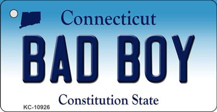 Bad Boy Connecticut State License Plate Key Chain KC-10926