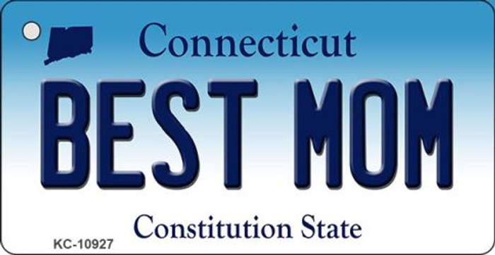 Best Mom Connecticut State License Plate Key Chain KC-10927