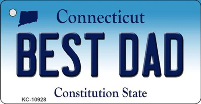 Best Dad Connecticut State License Plate Key Chain KC-10928