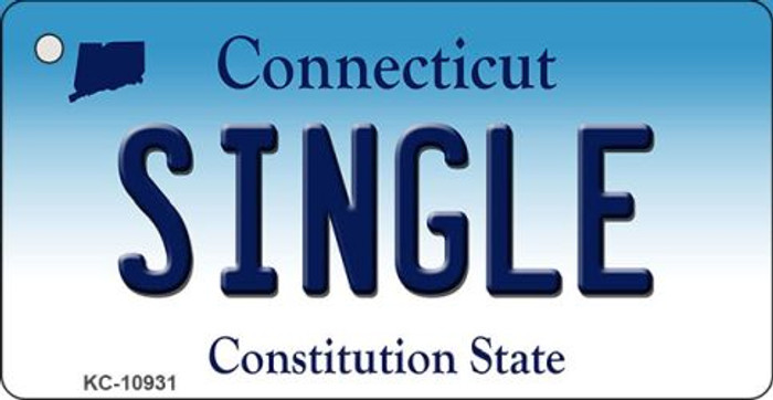 Single Connecticut State License Plate Key Chain KC-10931
