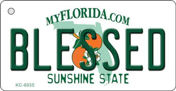 Blessed Florida State License Plate Key Chain KC-6035