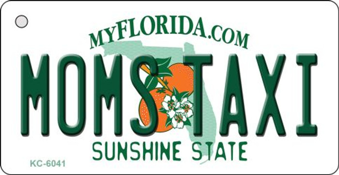 Moms Taxi Florida State License Plate Key Chain KC-6041