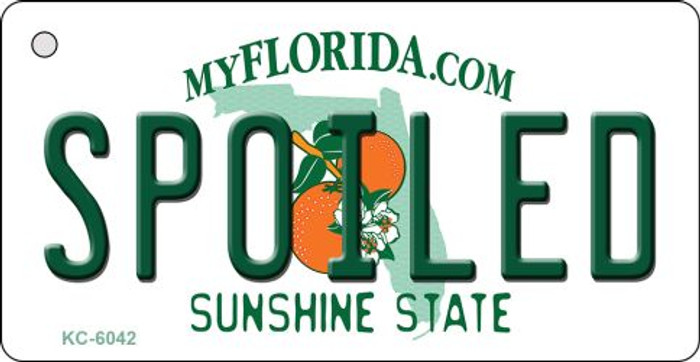 Spoiled Florida State License Plate Key Chain KC-6042