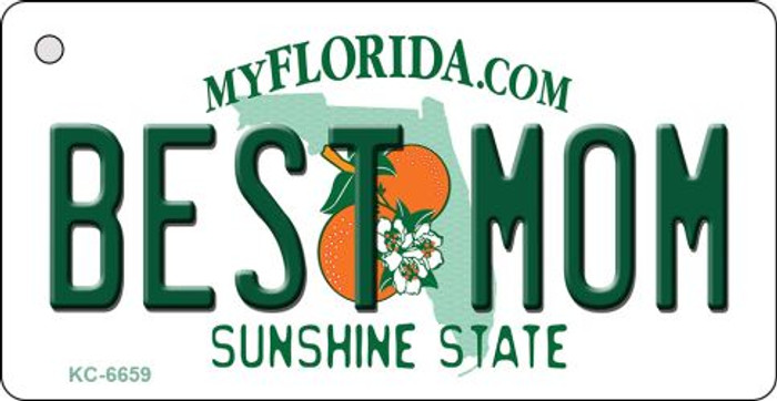 Best Mom Florida State License Plate Key Chain KC-6659