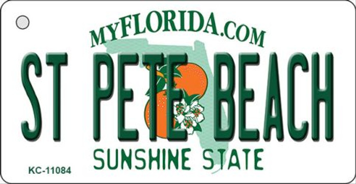 St Pete Beach Florida State License Plate Key Chain KC-11084