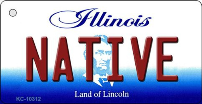 Native Illinois State License Plate Key Chain KC-10312