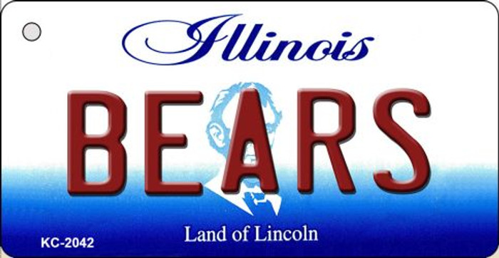 Bears Illinois State License Plate Key Chain KC-2042