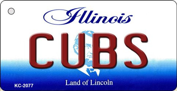 Cubs Illinois State License Plate Key Chain KC-2077