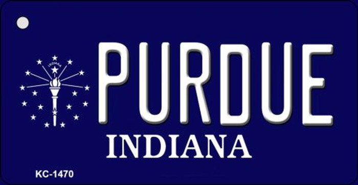 Purdue Indiana State License Plate Novelty Key Chain KC-1470