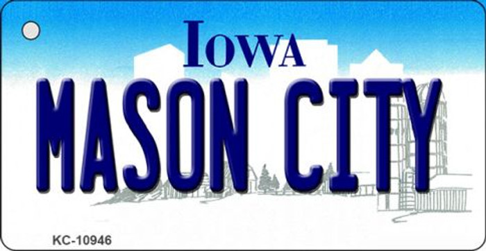Mason City Iowa State License Plate Novelty Key Chain KC-10946