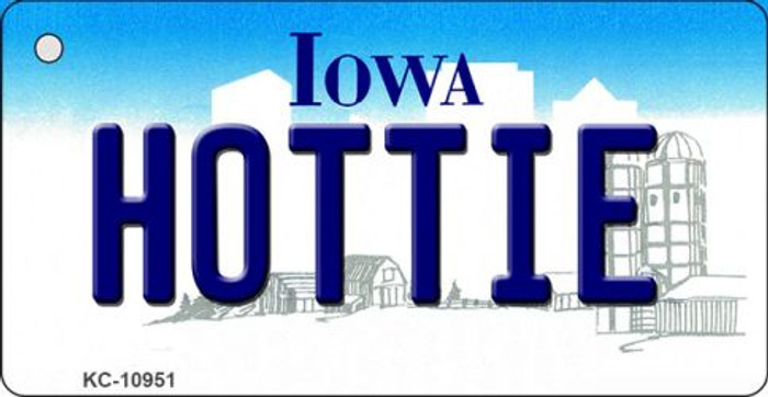 Hottie Iowa State License Plate Novelty Key Chain KC-10951