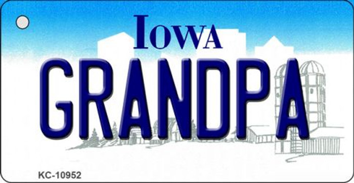 Grandpa Iowa State License Plate Novelty Key Chain KC-10952