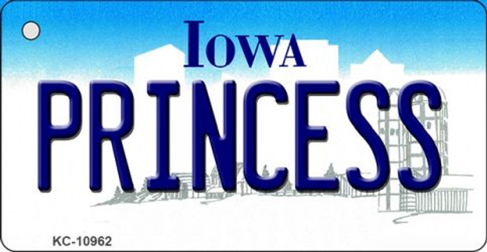 Princess Iowa State License Plate Novelty Key Chain KC-10962