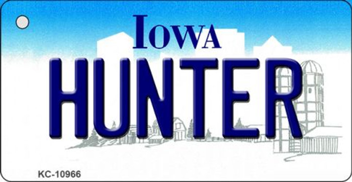 Hunter Iowa State License Plate Novelty Key Chain KC-10966