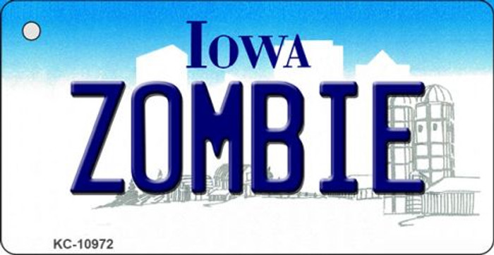 Zombie Iowa State License Plate Novelty Key Chain KC-10972