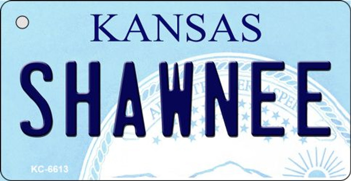 Shawnee Kansas State License Plate Novelty Key Chain KC-6613