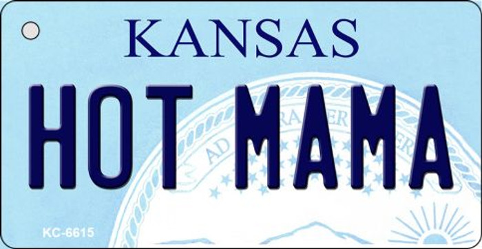 Hot Mama Kansas State License Plate Novelty Key Chain KC-6615