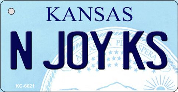 N Joy KS Kansas State License Plate Novelty Key Chain KC-6621
