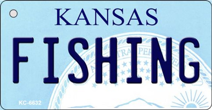 Fishing Kansas State License Plate Novelty Key Chain KC-6632