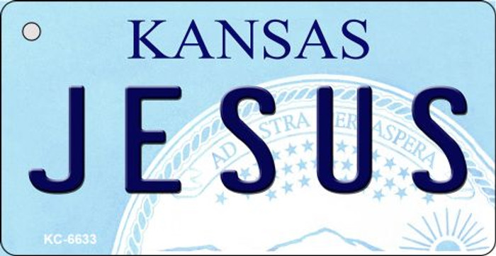 Jesus Kansas State License Plate Novelty Key Chain KC-6633