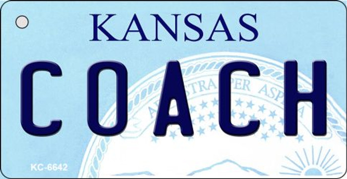 Coach Kansas State License Plate Novelty Key Chain KC-6642
