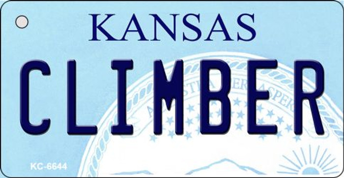Climber Kansas State License Plate Novelty Key Chain KC-6644