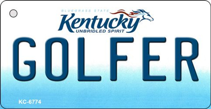 Golfer Kentucky State License Plate Novelty Key Chain KC-6774