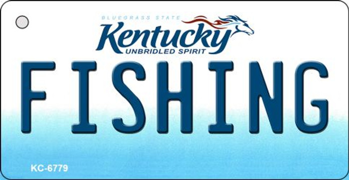 Fishing Kentucky State License Plate Novelty Key Chain KC-6779