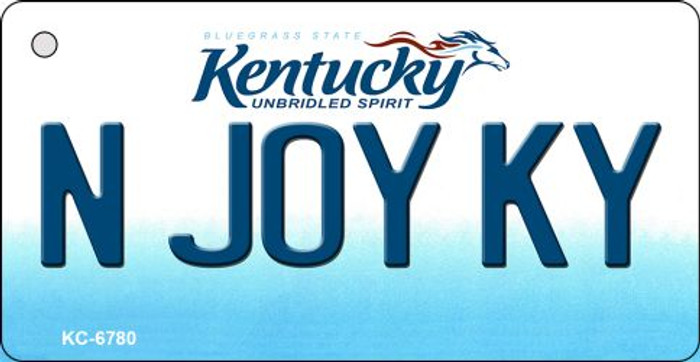 N Joy KY Kentucky State License Plate Novelty Key Chain KC-6780