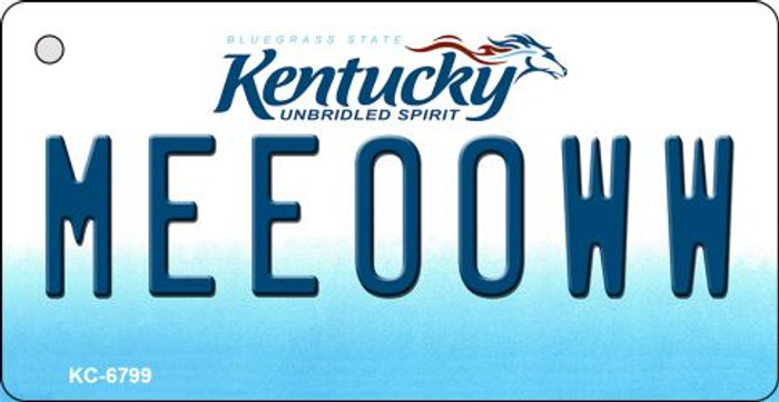 Meeooww Kentucky State License Plate Novelty Key Chain KC-6799