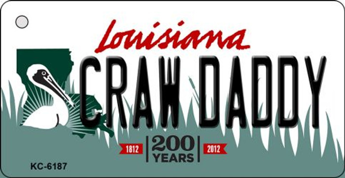 Craw Daddy Louisiana State License Plate Novelty Key Chain KC-6187