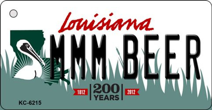 MMM Beer Louisiana State License Plate Novelty Key Chain KC-6215