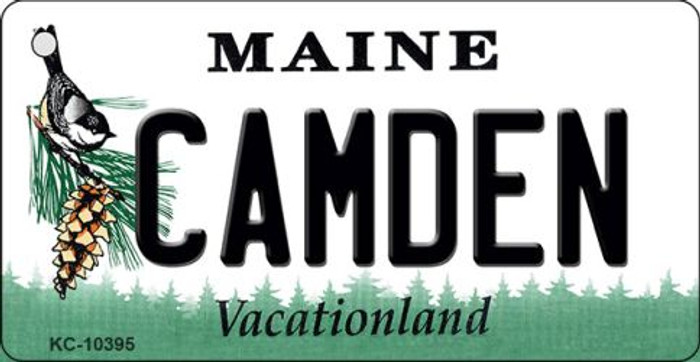 Camden Maine State License Plate Key Chain KC-10395