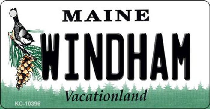 Windham Maine State License Plate Key Chain KC-10396