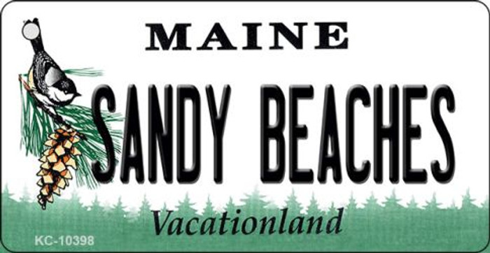 Sandy Beaches Maine State License Plate Key Chain KC-10398