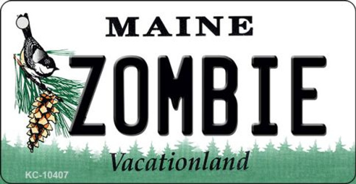 Zombie Maine State License Plate Key Chain KC-10407