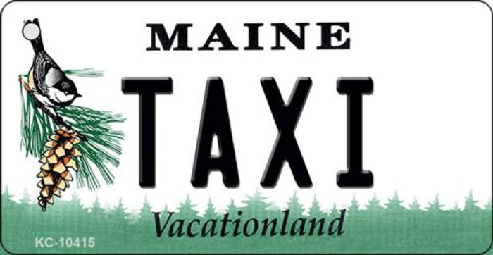 Taxi Maine State License Plate Key Chain KC-10415