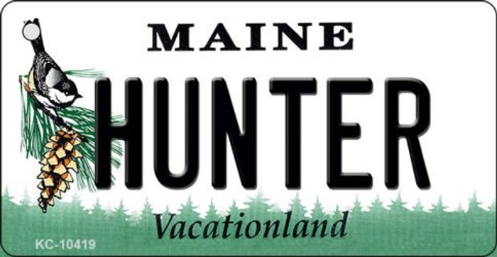 Hunter Maine State License Plate Key Chain KC-10419