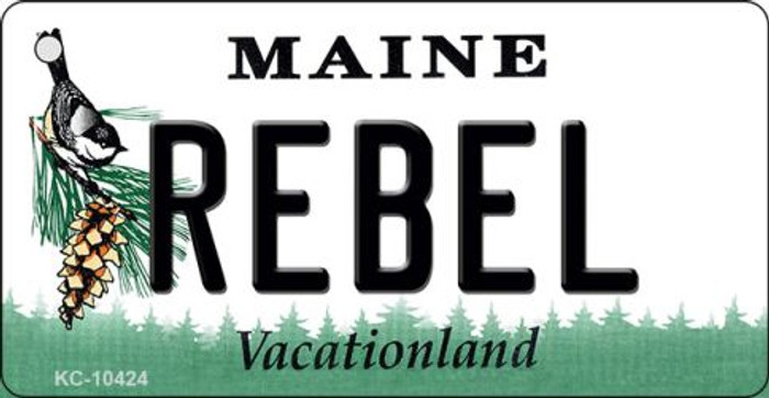 Rebel Maine State License Plate Key Chain KC-10424