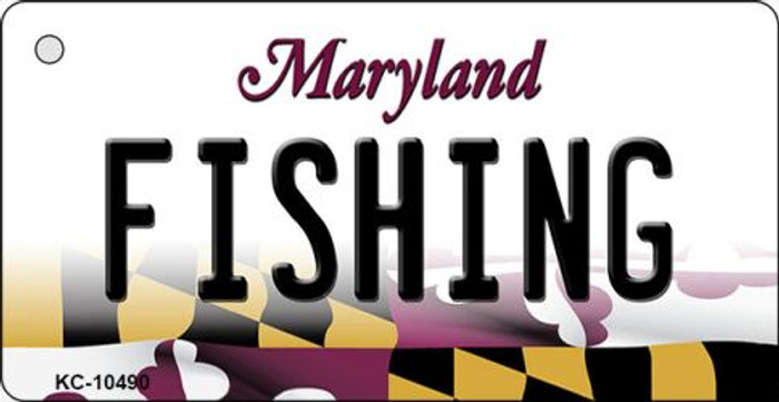 Fishing Maryland State License Plate Key Chain KC-10490