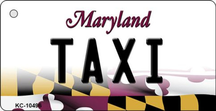 Taxi Maryland State License Plate Key Chain KC-10496